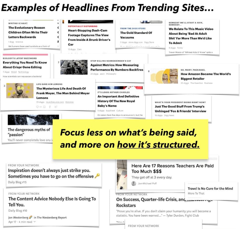 example headlines