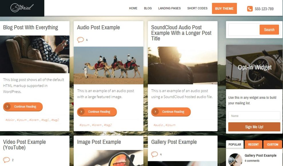 Storied-Home-page-layout-with-blog-posts